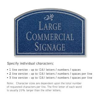 Salsbury 1520CSD2 Commercial Address Sign