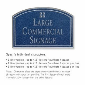 Salsbury 1520CSG2 Commercial Address Sign
