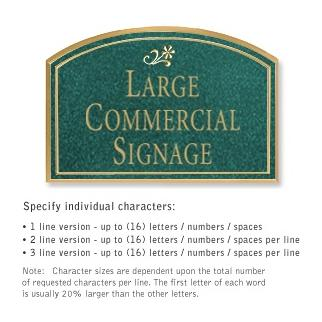 Salsbury 1520JGD2 Commercial Address Sign