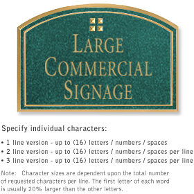 Salsbury 1520JGG2 Commercial Address Sign