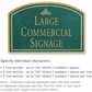 Salsbury 1520JGI Commercial Address Sign