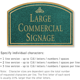Salsbury 1520JGI2 Commercial Address Sign