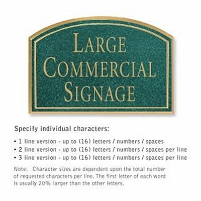 Salsbury 1520JGN Commercial Address Sign