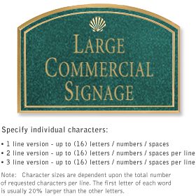 Salsbury 1520JGS2 Commercial Address Sign