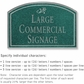 Salsbury 1520JSD2 Commercial Address Sign