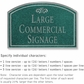 Salsbury 1520JSF Commercial Address Sign