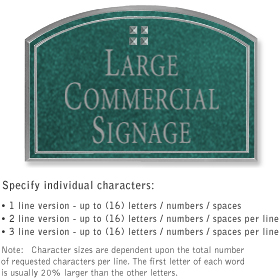 Salsbury 1520JSG Commercial Address Sign
