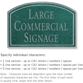 Salsbury 1520JSN Commercial Address Sign