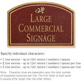 Salsbury 1520MGD Commercial Address Sign