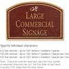 Salsbury 1520MGD2 Commercial Address Sign