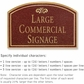 Salsbury 1520MGF Commercial Address Sign