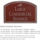 Salsbury 1520MSD2 Commercial Address Sign