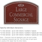 Salsbury 1520MSF2 Commercial Address Sign