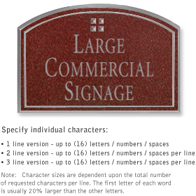 Salsbury 1520MSG2 Commercial Address Sign
