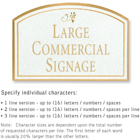 Salsbury 1520WGD2 Commercial Address Sign