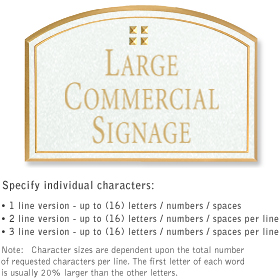Salsbury 1520WGG2 Commercial Address Sign