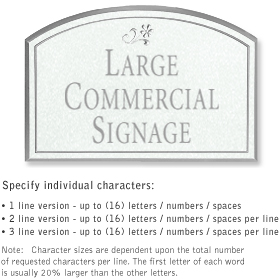 Salsbury 1520WSD2 Commercial Address Sign
