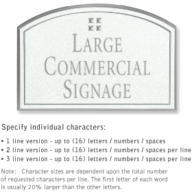 Salsbury 1520WSG Commercial Address Sign