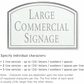 Salsbury 1520WSN2 Commercial Address Sign