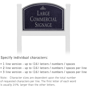 Salsbury 1521BSI1 Commercial Address Sign