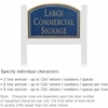 Salsbury 1521CGN1 Commercial Address Sign