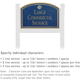 Salsbury 1521CGS1 Commercial Address Sign