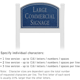 Salsbury 1521CSN1 Commercial Address Sign