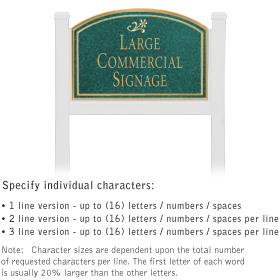 Salsbury 1521JGD1 Commercial Address Sign