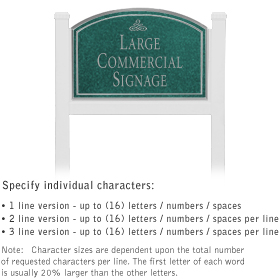 Salsbury 1521JSI1 Commercial Address Sign