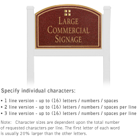 Salsbury 1521MGG1 Commercial Address Sign