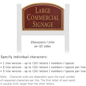 Salsbury 1521MGN2 Commercial Address Sign