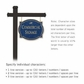 Salsbury 1542CGD1 Commercial Address Sign