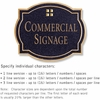 Salsbury 1540BGG Commercial Address Sign