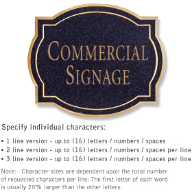Salsbury 1540BGN2 Commercial Address Sign
