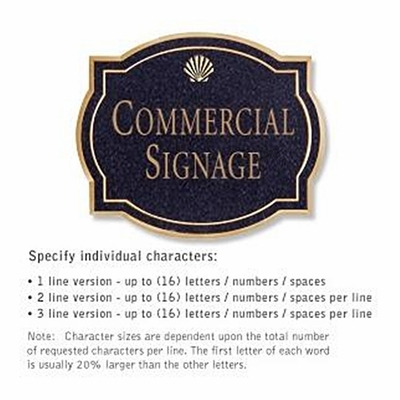 Salsbury 1540BGS Commercial Address Sign