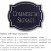 Salsbury 1540BSN Commercial Address Sign