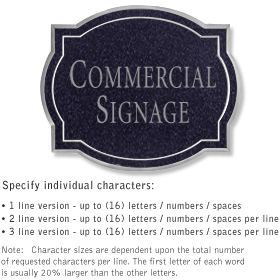 Salsbury 1540BSN2 Commercial Address Sign