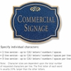 Salsbury 1540CGF2 Commercial Address Sign