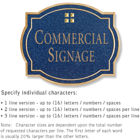 Salsbury 1540CGG2 Commercial Address Sign