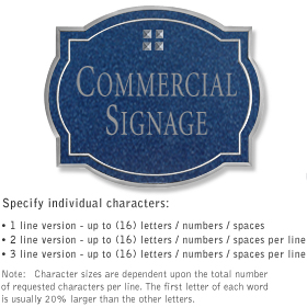 Salsbury 1540CSG2 Commercial Address Sign