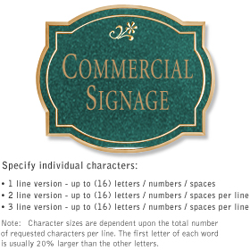 Salsbury 1540JGD Commercial Address Sign