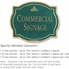 Salsbury 1540JGI2 Commercial Address Sign
