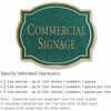 Salsbury 1540JGN2 Commercial Address Sign