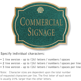 Salsbury 1540JGS Commercial Address Sign