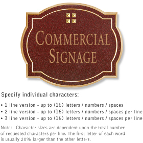 Salsbury 1540MGG Commercial Address Sign