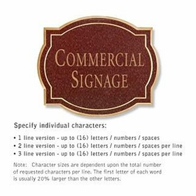 Salsbury 1540MGN Commercial Address Sign
