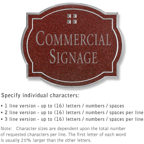 Salsbury 1540MSG Commercial Address Sign