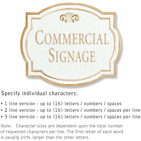 Salsbury 1540WGF Commercial Address Sign