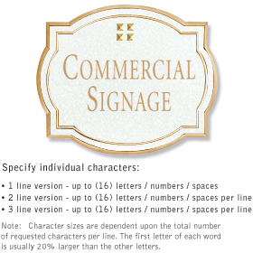 Salsbury 1540WGG Commercial Address Sign