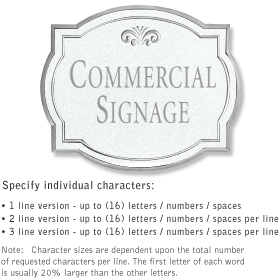 Salsbury 1540WSF2 Commercial Address Sign